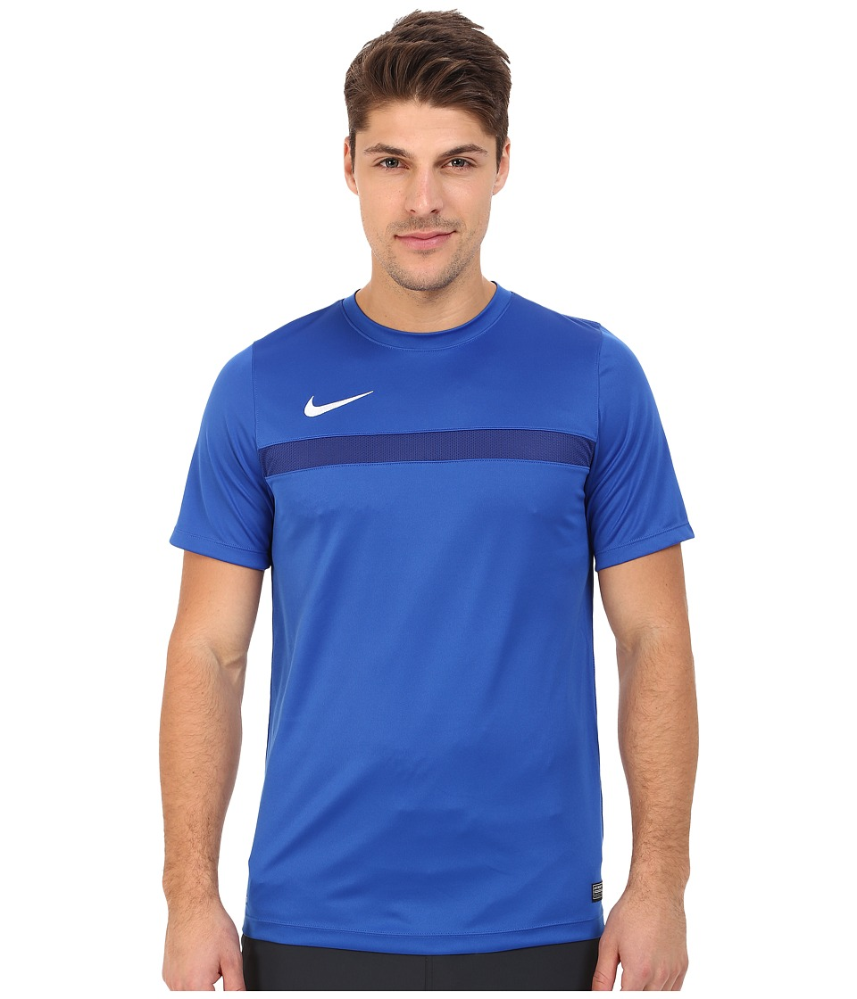 Nike - Academy S/S Training Top 1 (Game Royal/Deep Royal Blue/White) Men's T Shirt
