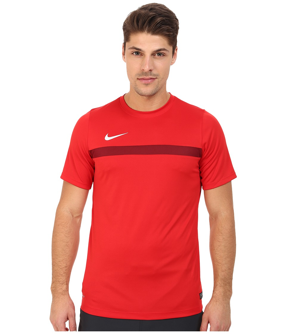 Nike - Academy S/S Training Top 1 (University Red/Team Red/White) Men's T Shirt