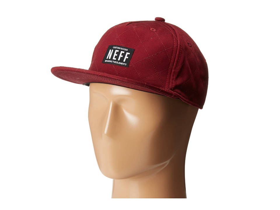 Neff - Quilted Cap (Maroon) Baseball Caps