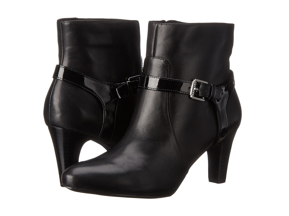 LAUREN Ralph Lauren - Saida (Black Burncalf/Patent PU) Women's Shoes