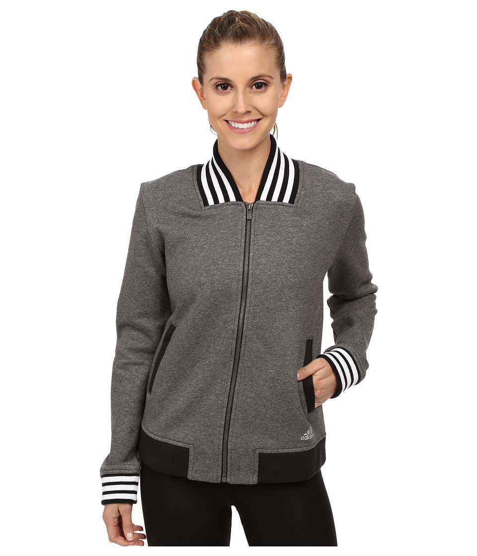 adidas - Limited Edition Jacket (Dark Grey Heather/Black/White) Women's Coat