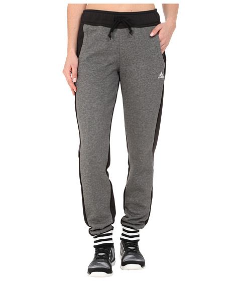 adidas - Limited Edition Pants (Dark Grey Heather/Black/White) Women