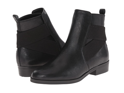 LAUREN by Ralph Lauren - Kaliyah (Black Soft Burncalf/Pat Suede) Women's Dress Pull-on Boots