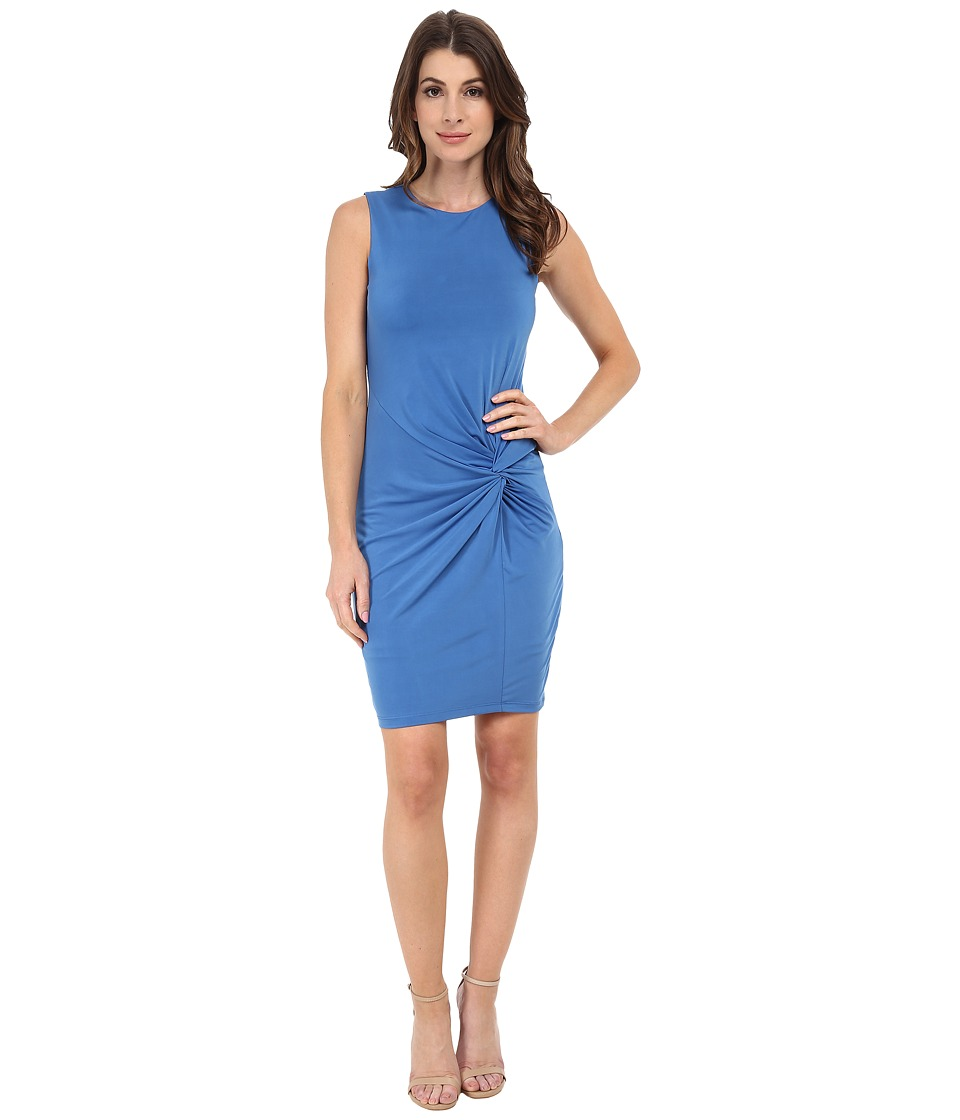 KUT from the Kloth - Scoop Neck Sleeveless Dress w/ Front Twist (Blue) Women's Dress