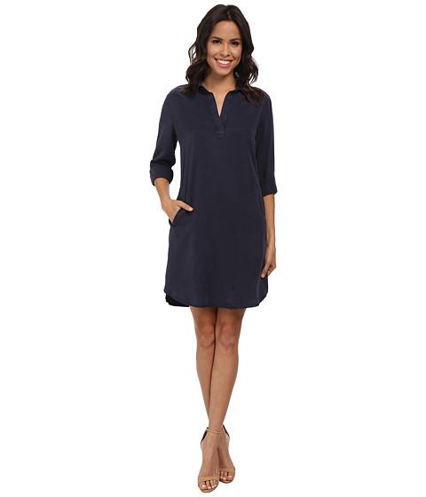 KUT from the Kloth - Long Sleeve Shirt Dress (Indigo) Women