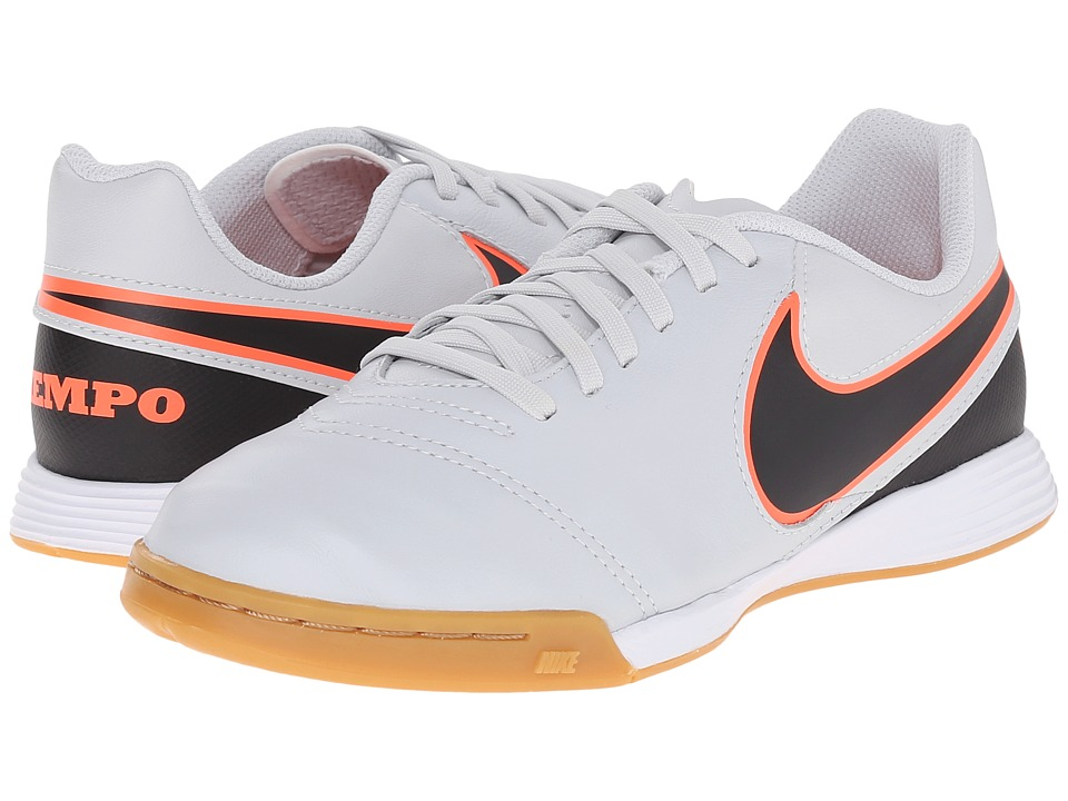 Nike Kids - Jr Tiempo Legend VI IC Soccer (Toddler/Little Kid/Big Kid) (Pure Platinum/Black) Kids Shoes