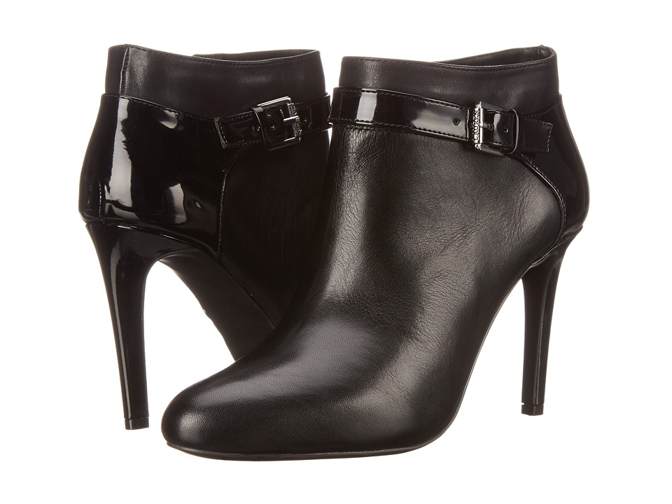 LAUREN by Ralph Lauren - Halyn (Black Soft Burncalf/Patent Suede) Women's 1-2 inch heel Shoes
