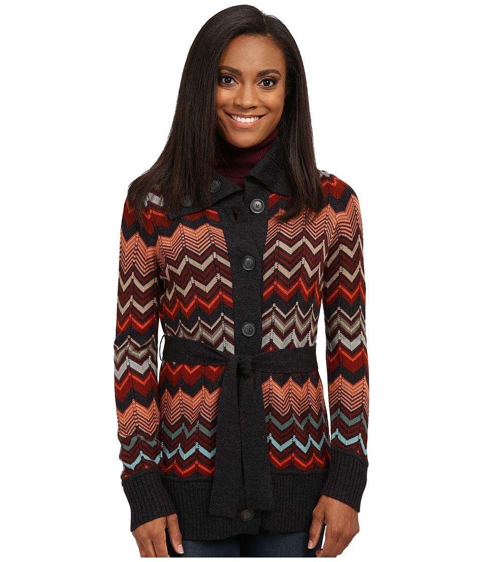 Pendleton - Petite Autumn Days Cardigan (Charcoal Heather Multi) Women's Sweater