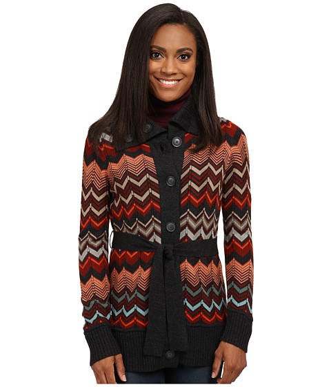 Pendleton - Petite Autumn Days Cardigan (Charcoal Heather Multi) Women's Sweater