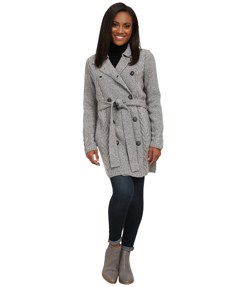 Pendleton - Petite Tweedy Trench (Grey Tweed) Women's Clothing