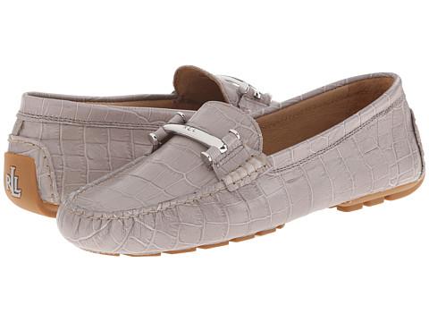 LAUREN by Ralph Lauren - Caliana (Stone Embossed Croc) Women's Slip on Shoes