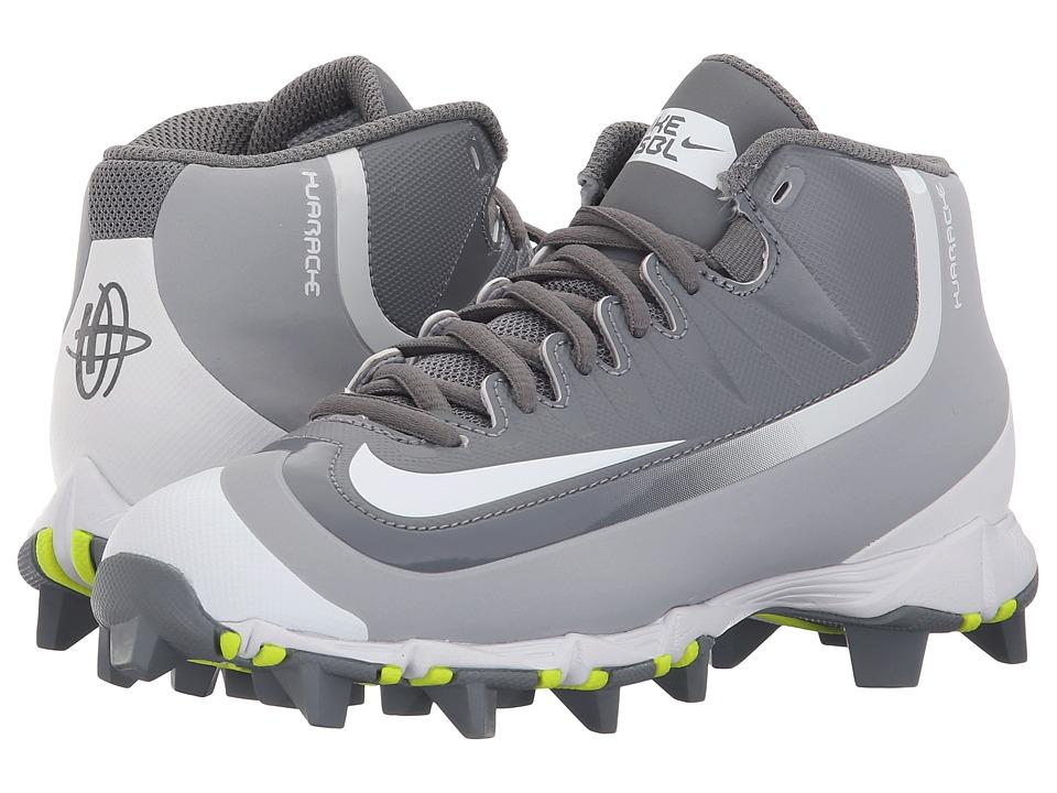 Nike Kids - Huarache 2K Filth Keystone Baseball (Toddler/Little Kid/Big Kid) (Cool Grey/Wolf Grey/Pure Platinum/White) Kids Shoes