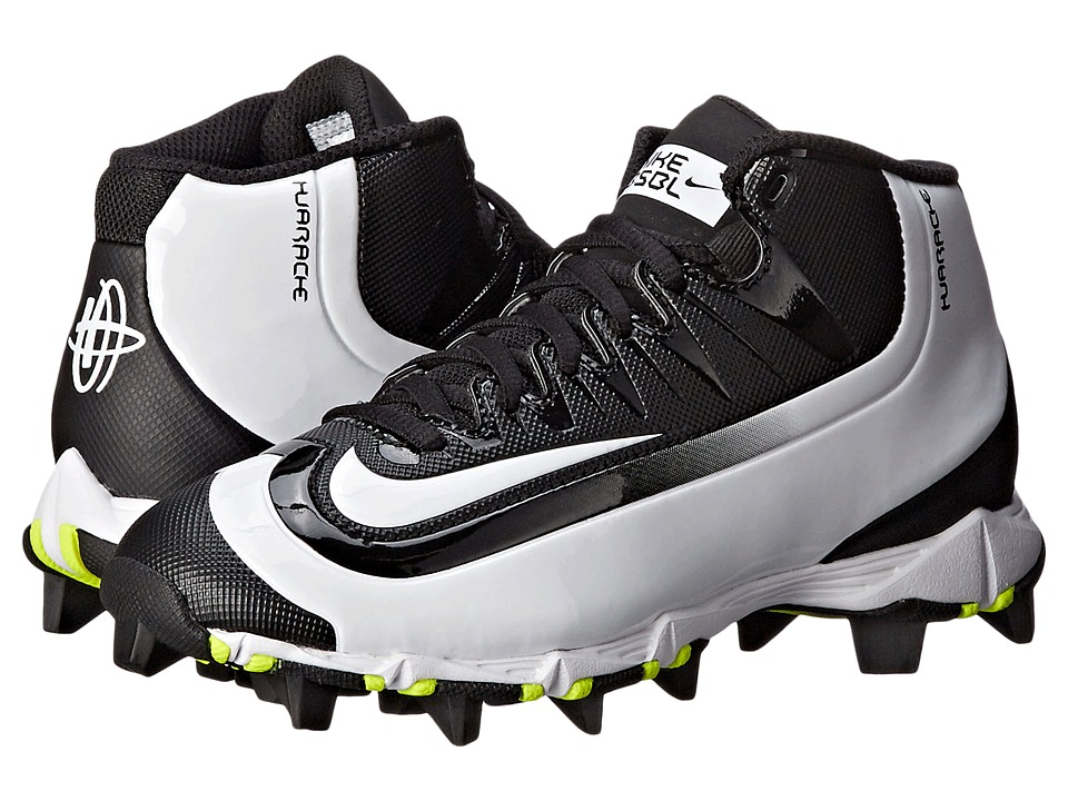 Nike Kids - Huarache 2K Filth Keystone Baseball (Toddler/Little Kid/Big Kid) (Black/Volt/White) Kids Shoes