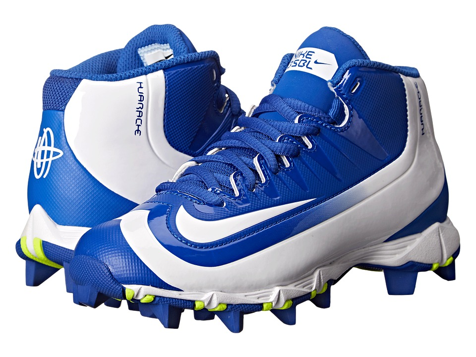 Nike Kids - Huarache 2K Filth Keystone Baseball (Toddler/Little Kid/Big Kid) (Game Royal/Volt/White) Kids Shoes
