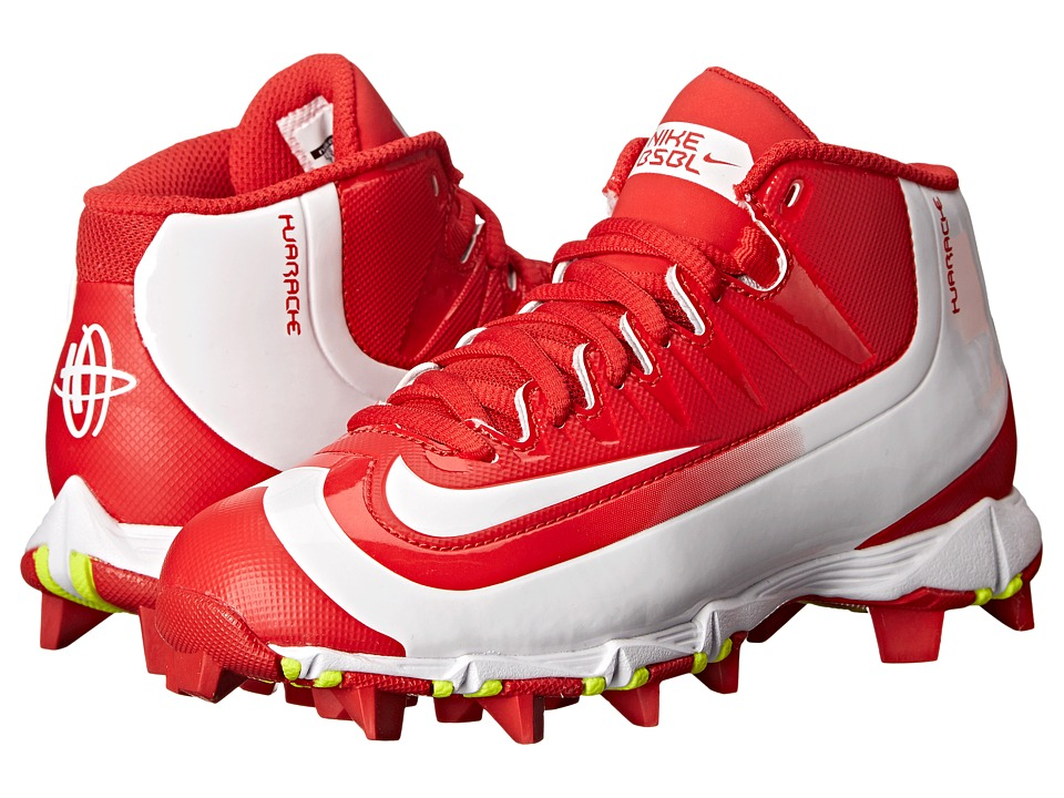Nike Kids - Huarache 2K Filth Keystone Baseball (Toddler/Little Kid/Big Kid) (University Red/Volt/White) Kids Shoes