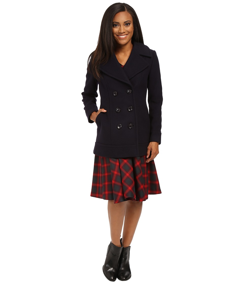 Pendleton - Petite Pea Coat (Navy) Women's Coat