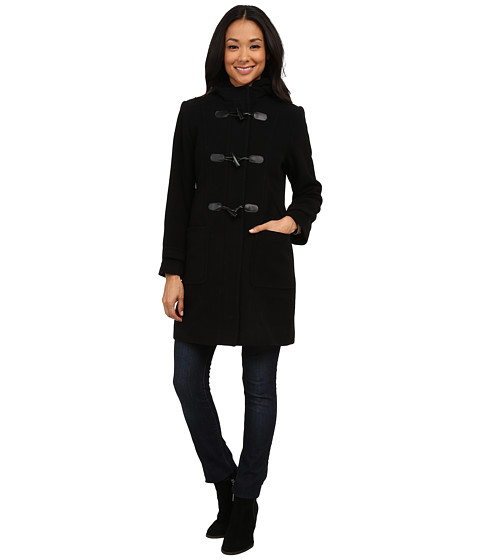 Pendleton - Petite Toggle Coat (Black) Women's Coat