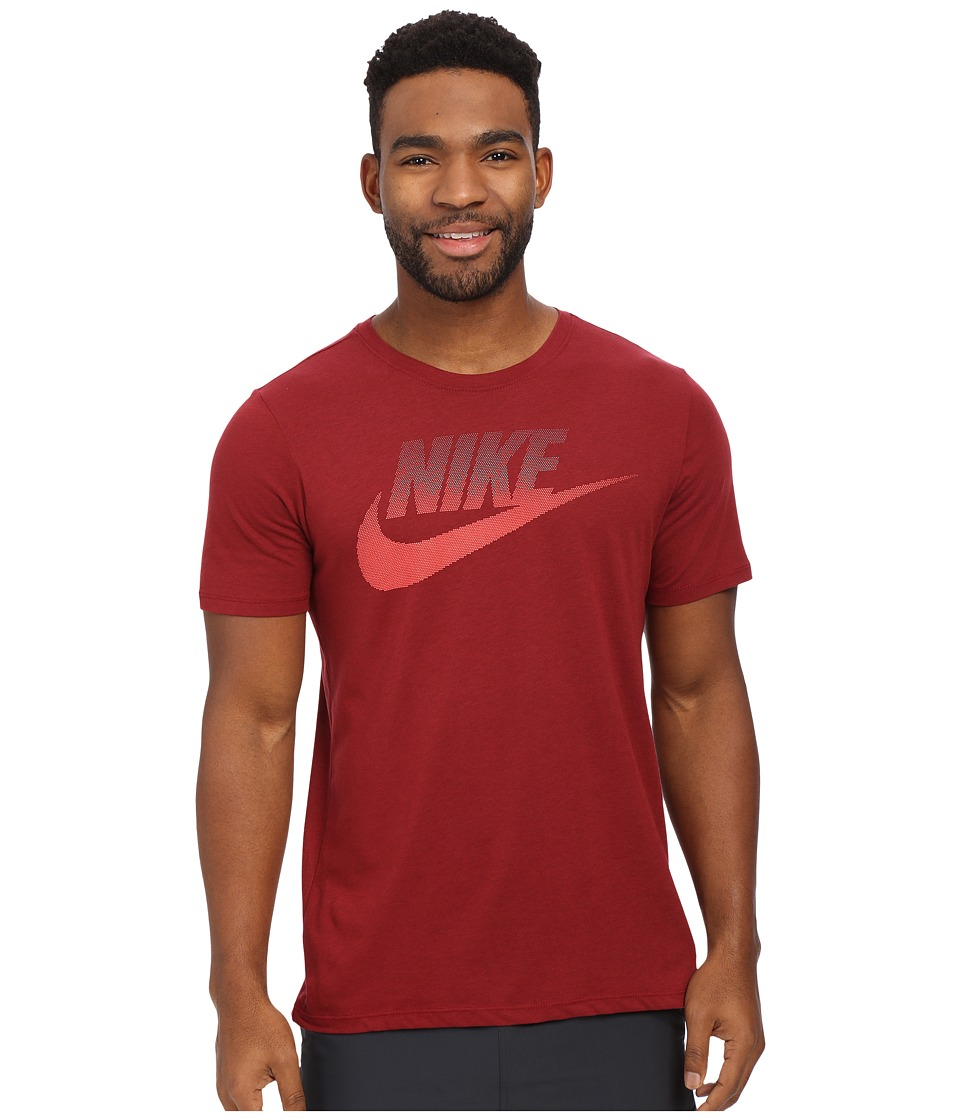 Nike - Oversized Speckle Futura Tee (Team Red/Bright Crimson) Men's T Shirt