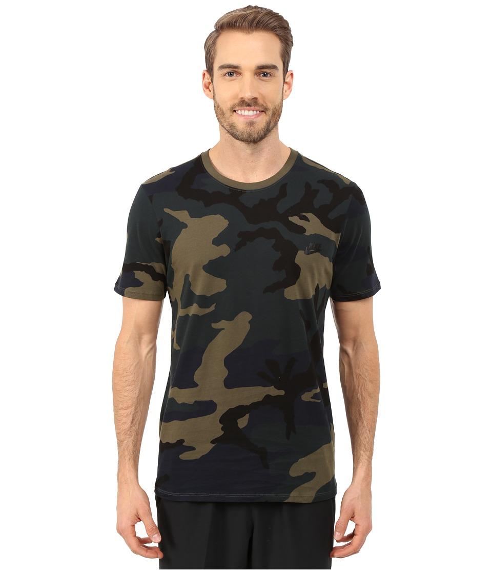 Nike - Camo Futura T2 Tee (Cargo Khaki/Black) Men's T Shirt
