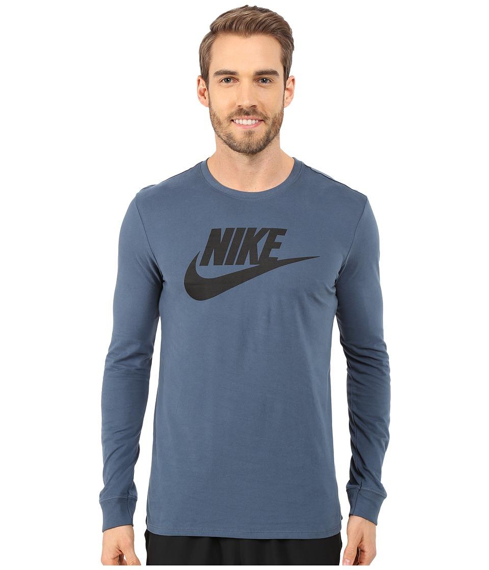 Nike - Futura Icon Long Sleeve Tee (Squadron Blue) Men