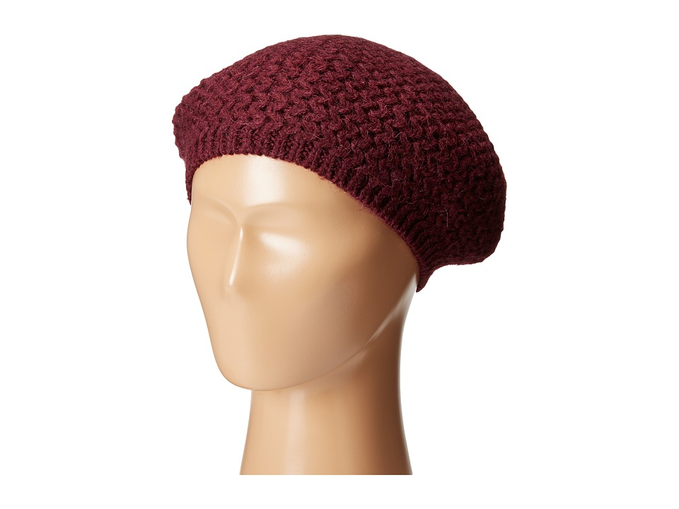 LAUREN by Ralph Lauren - Racking Stitch Beret (Port) Berets