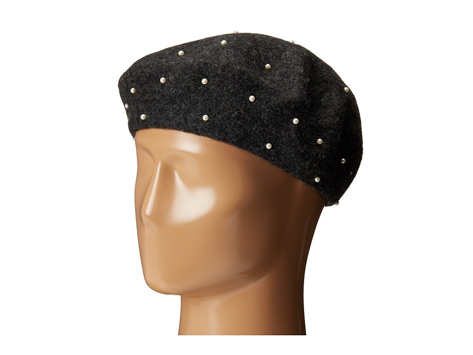 LAUREN by Ralph Lauren - Pearl Beret (Dark Grey Heather) Berets