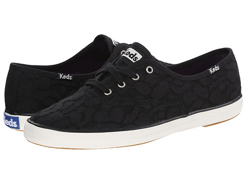 Keds - Champion Canvas Lace (Black Lace) Women