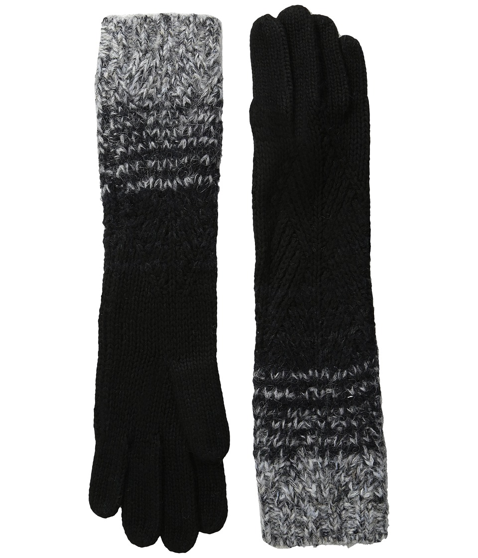 LAUREN by Ralph Lauren - Mohair Dipped Aran Glove (Black) Wool Gloves