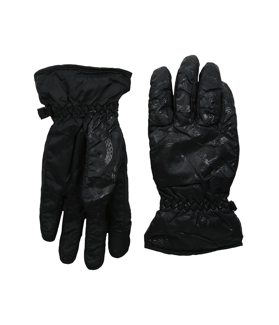 LAUREN Ralph Lauren - Packable Nylon Touch Glove (Black) Wool Gloves