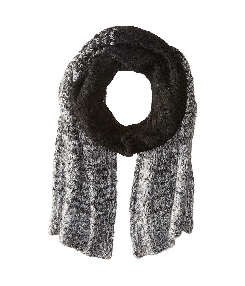 LAUREN by Ralph Lauren - Mohair Dipped Aran Scarf (Black) Scarves