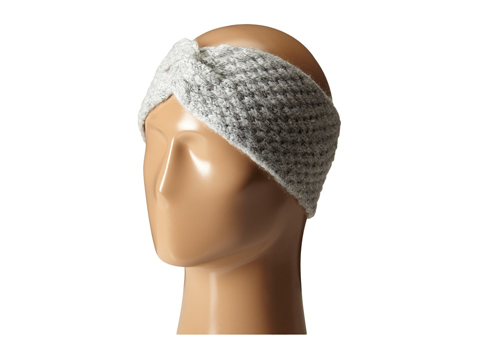 LAUREN by Ralph Lauren - Oversized Honeycomb Headband (Fawn Grey Heather) Headband