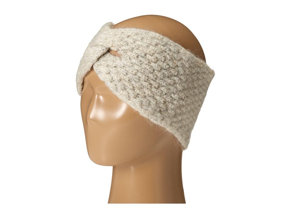 LAUREN Ralph Lauren - Oversized Honeycomb Headband (Oatmeal Heather) Headband