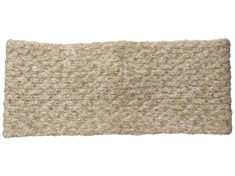LAUREN by Ralph Lauren - Oversized Honeycomb Headband (Camel Heather) Headband