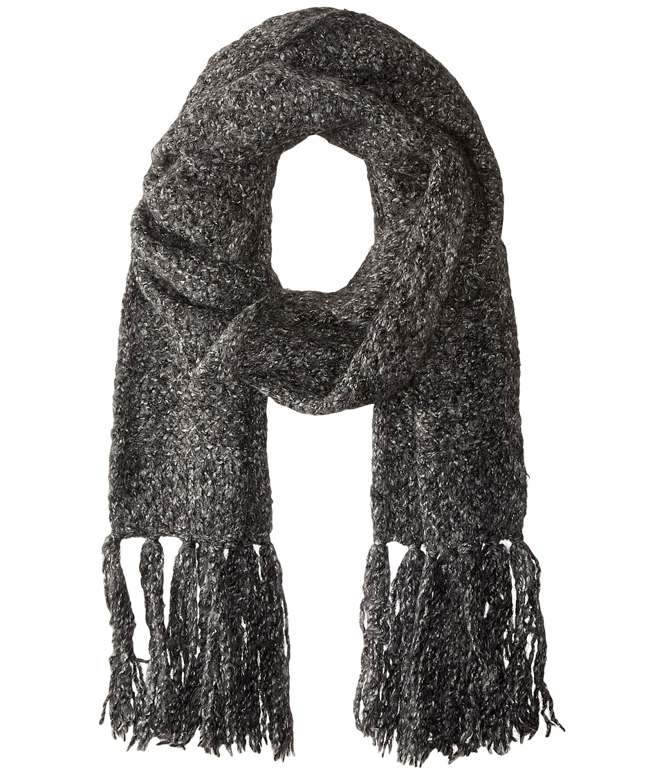 LAUREN by Ralph Lauren - Oversized Honeycomb Scarf (Salt & Pepper) Scarves