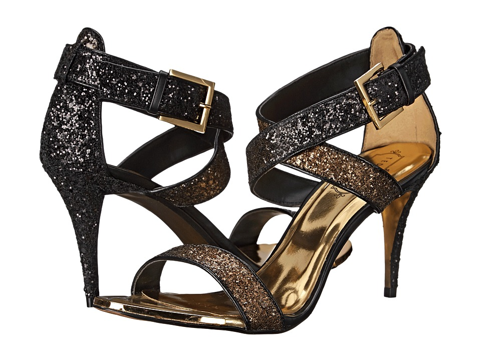 Ted Baker - Kahura (Black/Gold Satin) High Heels