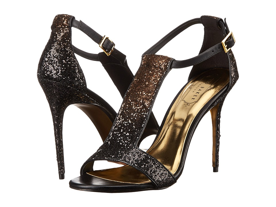Ted Baker Pwimrose 2 (Black/Gold Satin C) High Heels