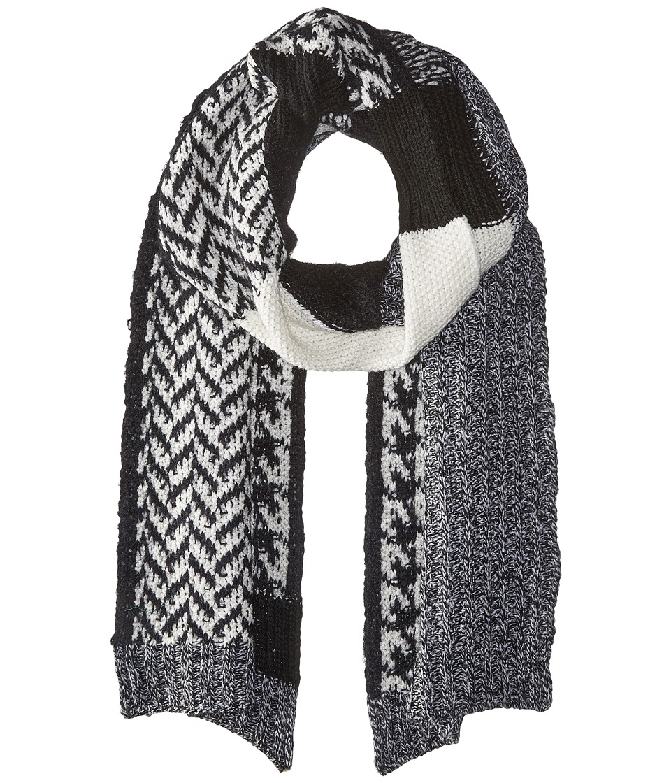 LAUREN by Ralph Lauren - Mosaic Stitch Menswear Scarf (Salt & Pepper) Scarves