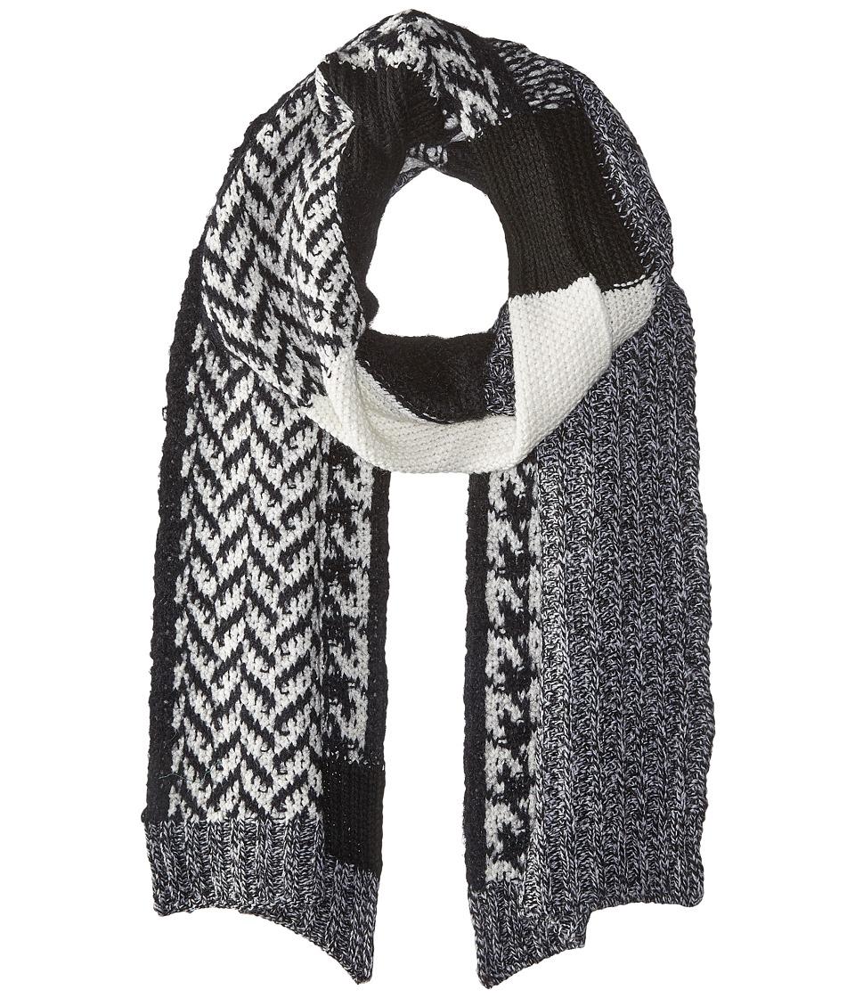 LAUREN by Ralph Lauren - Mosaic Stitch Menswear Scarf (Salt & Pepper) Scarves