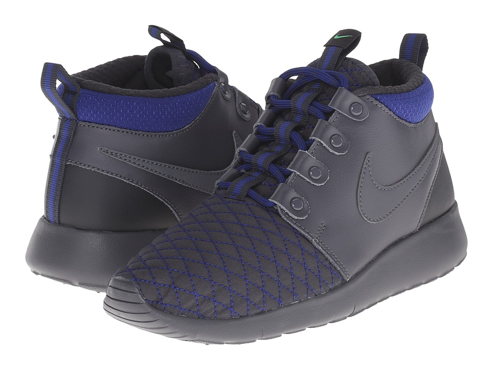 Nike Kids - Roshe One Mid Winter GS (Big Kid) (Dark Grey/Deep Royal Blue/Anthracite/Dark Grey) Boys Shoes