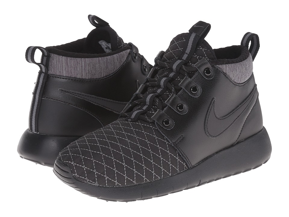 Nike Kids - Roshe One Mid Winter GS (Big Kid) (Black/Dark Grey/Black) Boys Shoes