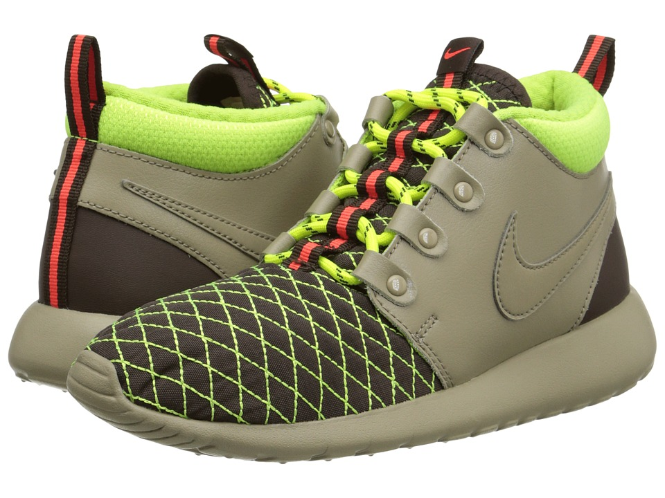 Nike Kids - Roshe One Mid Winter GS (Big Kid) (Bamboo/Volt/Baroque Brown/Bamboo) Boys Shoes
