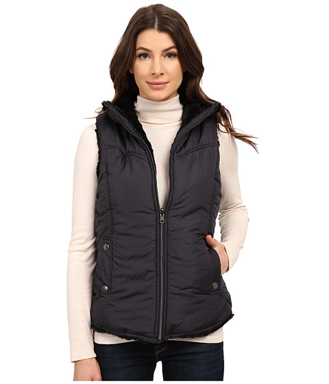 KC Collections - Reversible Vest w/ Faux Fur (Steel) Women's Vest