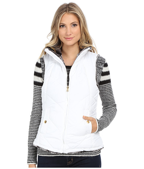 KC Collections - Reversible Chevron Stitch Vest (White) Women