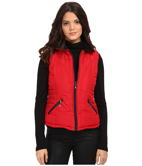 KC Collections - Polar Fleece Vest (Red) Women