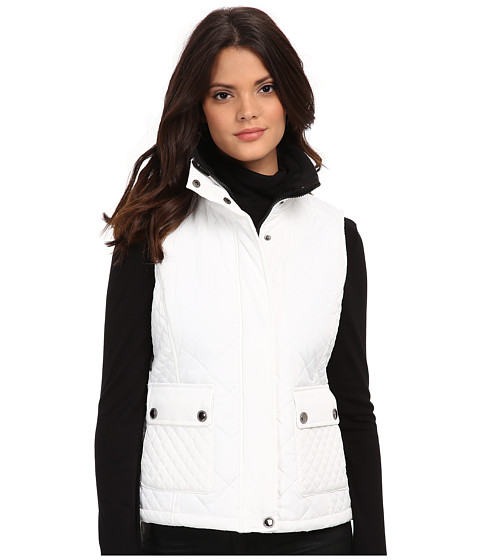 KC Collections - Diamond Quilt Vest (White) Women's Vest