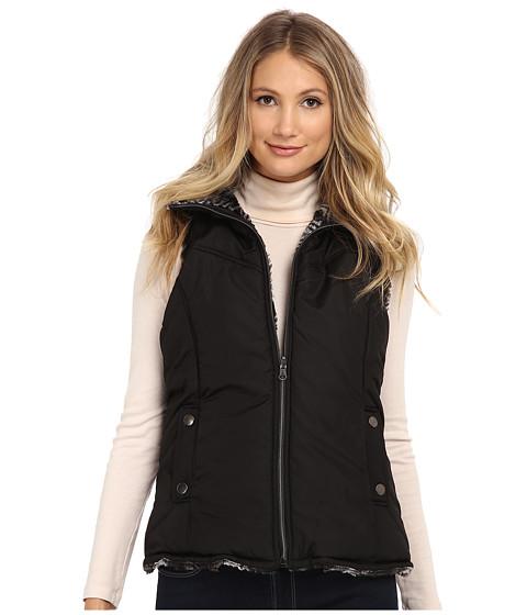 KC Collections - Reversible Seam Vest (Black) Women