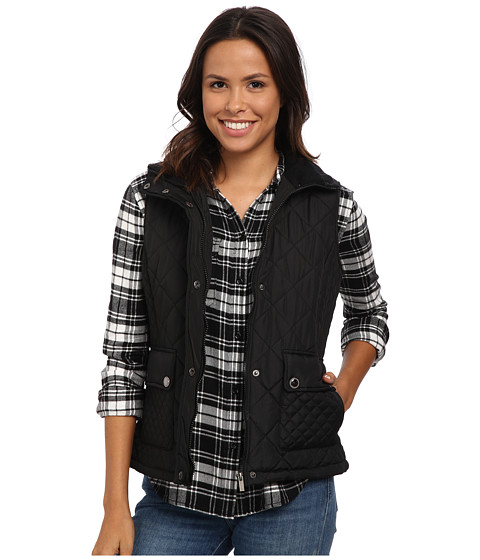 KC Collections - Diamond Quilt Vest (Black) Women