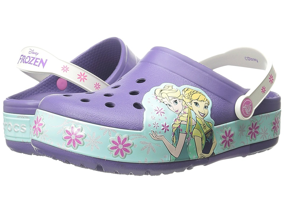 Crocs Kids - CrocsLights Frozen Fever Clog (Toddler/Little Kid) (Wild Orchard) Girls Shoes