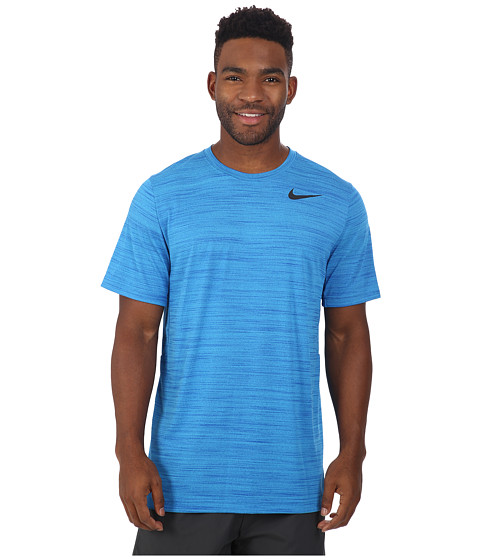 Nike - Dri-FIT Touch S/S Heathered (Blue Lagoon/Game Royal/Heather/Black) Men