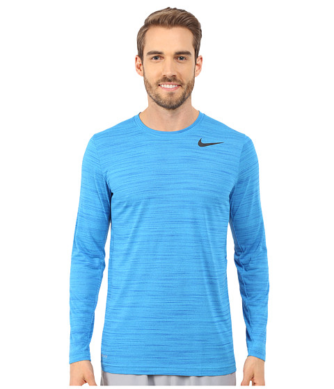Nike - Dri-FIT Touch L/S (Blue Lagoon/Game Royal/Heather/Black) Men's T Shirt